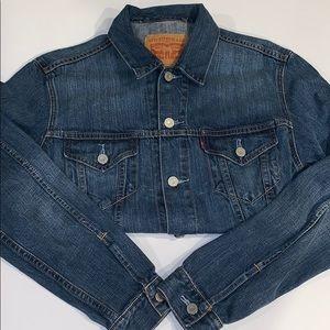 Men's Denim Levi's Jacket (Size: L)